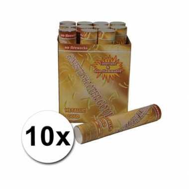 10 confetti kanonnen 30 cm goud