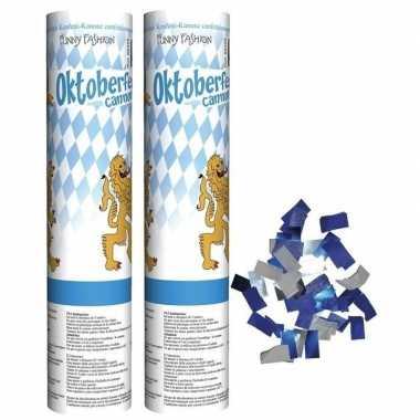 2x oktoberfest confetti kanonnen 20 cm