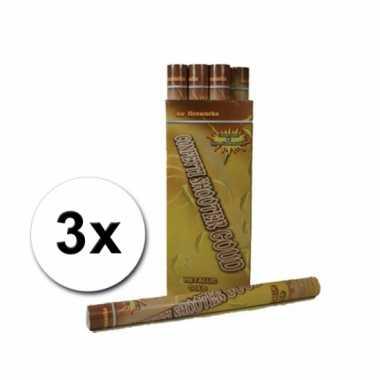 3 Confetti kanonnen 60 cm goud