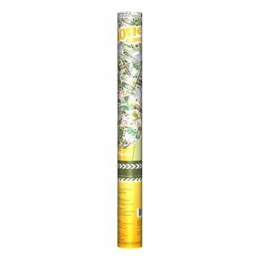 3x confetti kanon geld 60 cm