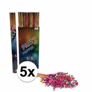 5x confetti shooters multi color 60 cm