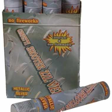 Confetti kanon 30 cm zilver
