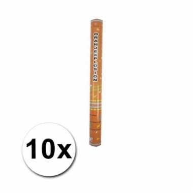 Oranje feestconfetti kanonnen 50 cm 10x