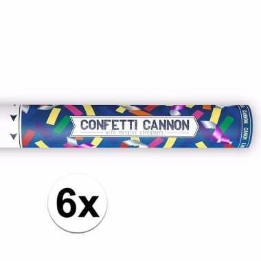 Set van confetti shooters metallic kleuren mix 40 cm 10092972