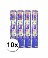 Grootverpakking met 10 gekleurde confetti kanonnen